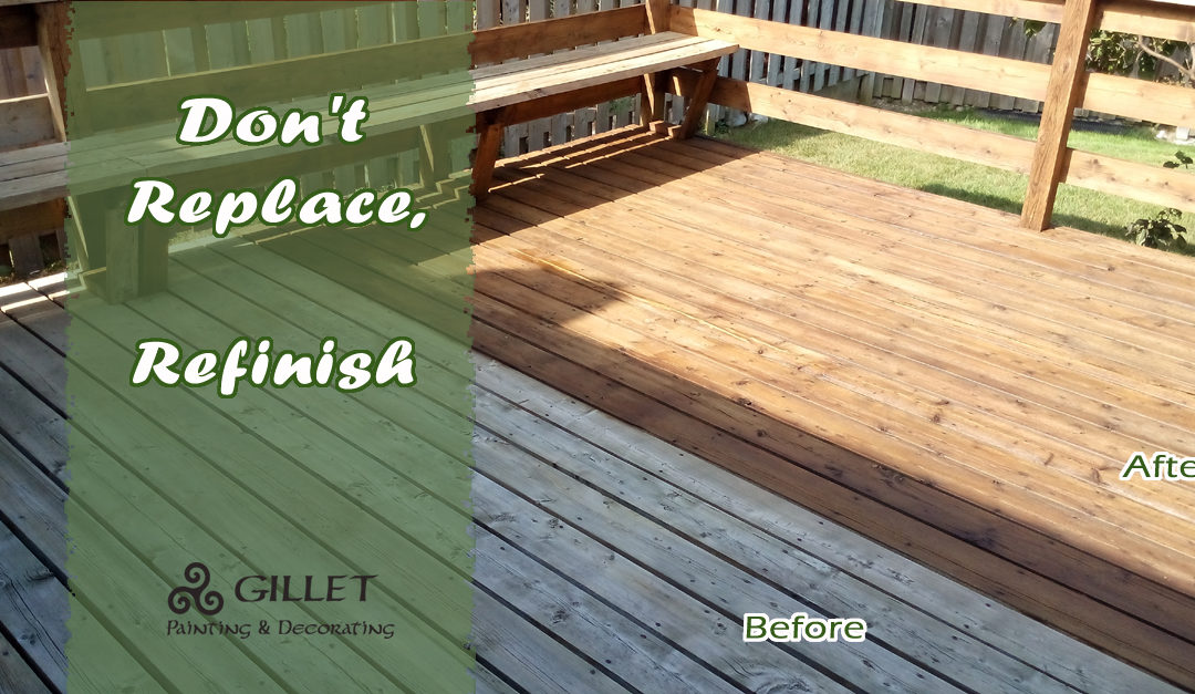 Why Replace your Deck when you can Refinish?